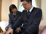 Naughty Schoolgirl Seduces Nerd Teacher Who Never Feel Pussy In His Life Before