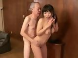 Busty Japanese Teen Hara Chigusa Talking To Old mans Wife While Fucking Him At Her Apartment