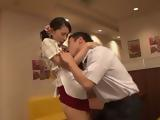 Waitress Hana Kimura Gets Swooped After Hours By Coworker