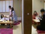 Two Schoolgirls Fucks Classmate In Traditional Japanese Restaurant