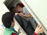 Busty Japanese Teacher Giving Three Of Her Students First Sexual Experience