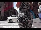Phat booty blonde walking