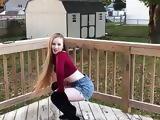 Instagram model dancing like a slut in booty shorts